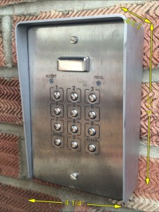 Push Button Entry Keypad-2 -