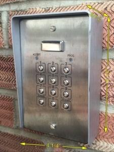 Push Button Entry Keypad-2 -