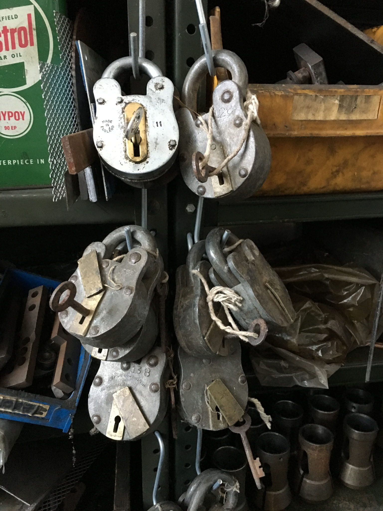 Old Padlocks with key more then 12 available -