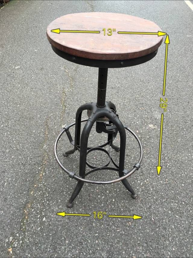 Stool Industrial Adjustable Height 8 Available -