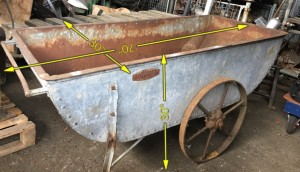 Galvanised Trough on Wheels -