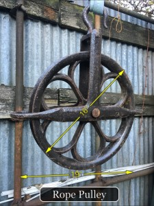 Rope Pulley 16″ Dia -