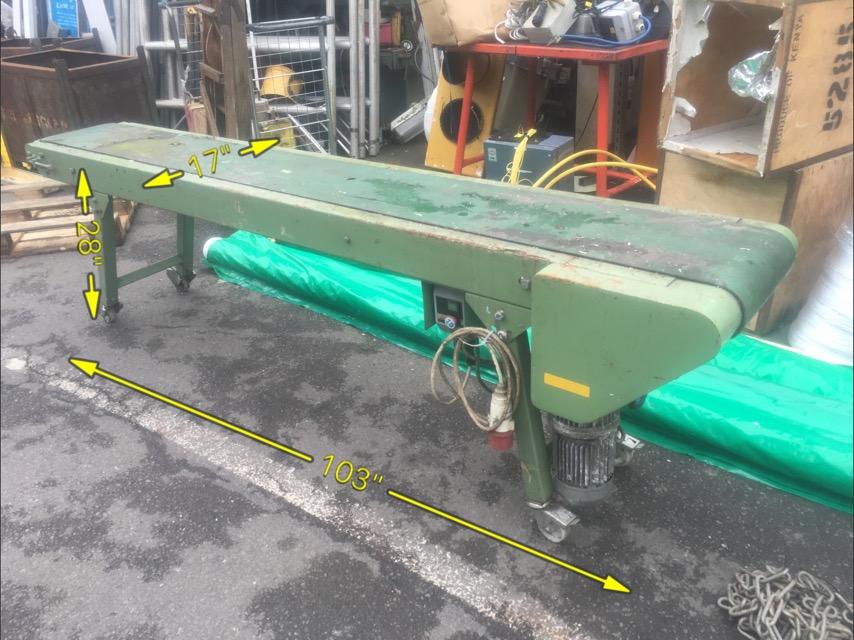 Conveyor Belt Electric 103″ long -